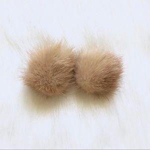 Vintage mink earrings
